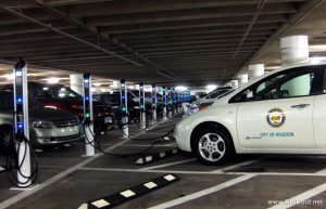 electric car charging parking